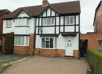 Thumbnail 3 bed semi-detached house to rent in Hazeloak Road, Shirley, Solihull