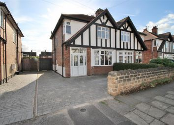 Thumbnail 3 bedroom semi-detached house for sale in Queens Drive, Beeston, Nottingham