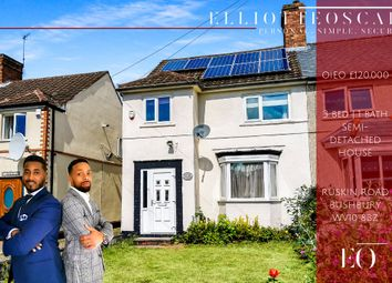 Thumbnail 3 bed semi-detached house for sale in Ruskin Road, Wolverhampton