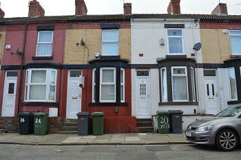 Thumbnail 2 bed terraced house to rent in Yelverton Road, Tranmere