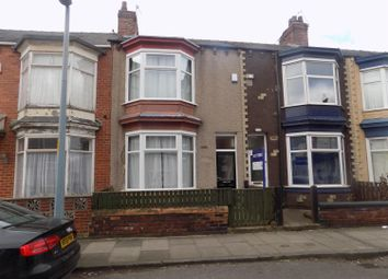 Thumbnail 3 bed terraced house to rent in Wellesley Road, Middlesbrough