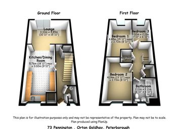 Thumbnail 3 bed end terrace house for sale in Pennington, Orton Goldhay, Peterborough