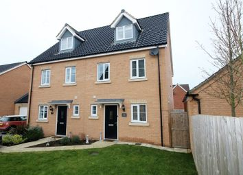 Thumbnail 3 bed semi-detached house for sale in Beechcroft Court, Cringleford, Norwich