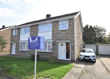 Thumbnail 3 bed semi-detached house to rent in Salcombe Close, Bedford