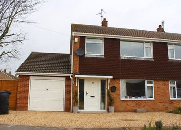 Thumbnail 3 bed semi-detached house for sale in Deer Park Road, Langtoft, Peterborough