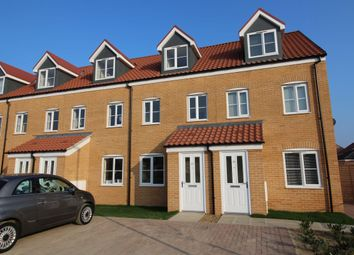 Thumbnail 3 bedroom terraced house to rent in Howard's Way, Bradwell, Great Yarmouth