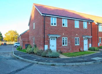 Thumbnail 2 bed semi-detached house for sale in Brick Drive, Great Blakenham, Ipswich
