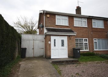 Thumbnail 3 bed semi-detached house for sale in Cromore Close, Coalville