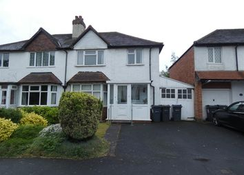 Thumbnail 3 bed semi-detached house for sale in Etwall Road, Hall Green, Birmingham