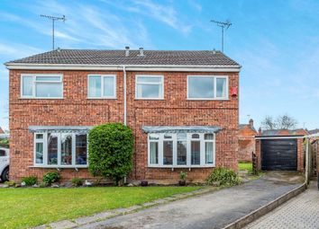 Thumbnail 3 bed semi-detached house for sale in Northfield Close, Uttoxeter