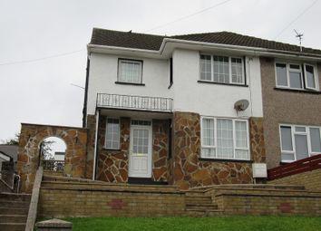 Thumbnail 3 bed semi-detached house for sale in Heol Y Bryn, Llangynwyd, Maesteg, Bridgend.