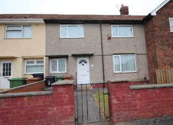 Thumbnail 3 bed terraced house to rent in Erskine Road, Hartlepool