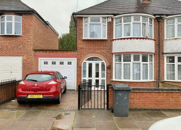 Thumbnail 3 bed semi-detached house for sale in Broadway Road, Leicester