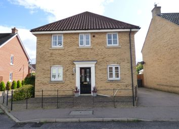 Thumbnail 3 bed detached house for sale in Field Acre Way, Long Stratton, Norwich