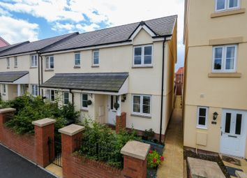 Thumbnail 3 bed end terrace house to rent in Younghayes Road, Cranbrook, Exeter