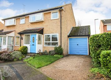 Thumbnail 3 bed semi-detached house for sale in Medeswell Close, Brundall, Norwich