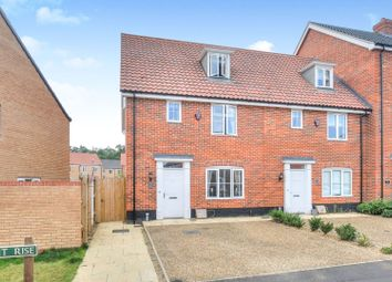 Thumbnail 3 bed end terrace house for sale in Avocet Rise, Norwich