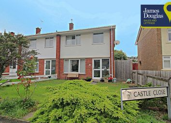 Thumbnail 3 bed semi-detached house for sale in Castle Close, Dinas Powys, Cardiff