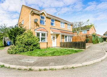Thumbnail 3 bed semi-detached house for sale in Donne Close, Kettering