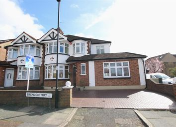 Thumbnail 4 bed semi-detached house for sale in Brendon Way, Enfield