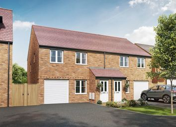 "Thumbnail 3 bed semi-detached house for sale in ""The Chatsworth"" at Cranford Road, Kettering"