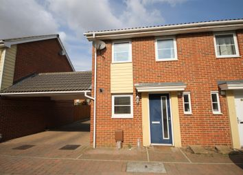 Thumbnail 2 bedroom semi-detached house for sale in Costessey, Norwich