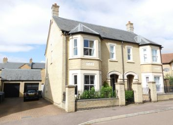Thumbnail 3 bed semi-detached house for sale in Fleming Drive, Stotfold, Herts