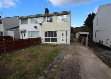 Thumbnail 2 bed semi-detached house for sale in Garden Close, Llanbradach, Caerphilly