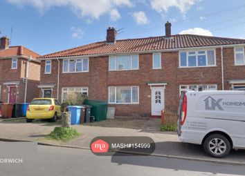 Thumbnail 3 bed terraced house to rent in Harmer Road, Norwich