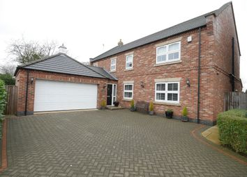 Thumbnail 4 bed detached house for sale in Knedlington Walk, Howden, Goole