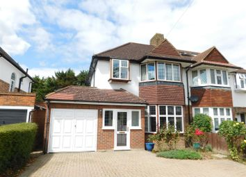 Thumbnail 3 bed semi-detached house for sale in Manor Road North, Hinchley Wood, Esher