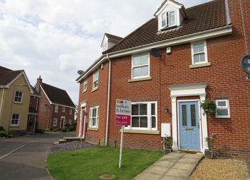 Thumbnail 4 bedroom town house for sale in Wild Cherry Close, Watton, Thetford