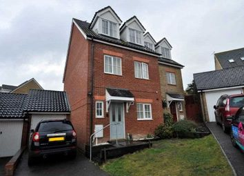 Thumbnail 3 bed semi-detached house for sale in Guernsey Way, Kennington, Ashford