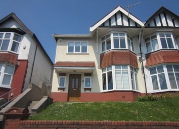 Thumbnail 4 bed semi-detached house to rent in Sketty Road, Uplands, Swansea.
