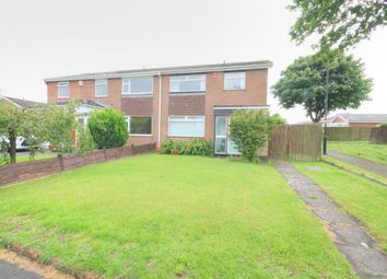 Thumbnail 3 bed semi-detached house to rent in Kings Walk, Chapel Park, Newcastle Upon Tyne