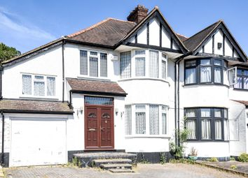 Thumbnail 4 bed semi-detached house to rent in Lake View, Edgware