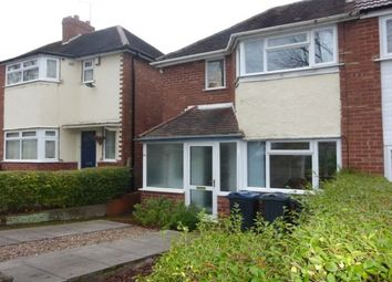 Thumbnail 2 bed semi-detached house to rent in Falconhurst Road, Selly Oak, Birmingham