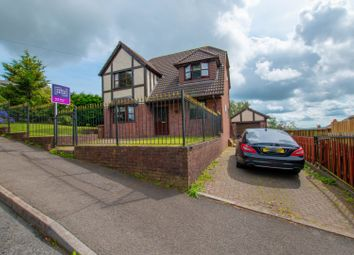 Thumbnail 4 bed detached house for sale in Commin Road, Bargoed