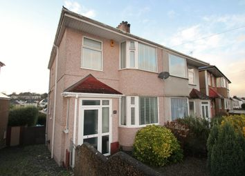 Thumbnail 3 bedroom semi-detached house for sale in Efford Crescent, Higher Compton, Plymouth