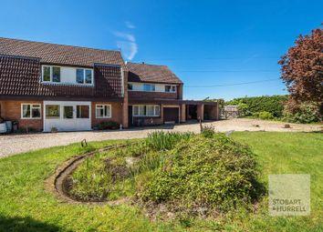 Thumbnail 4 bed semi-detached house for sale in Back Lane, Rackheath, Norfolk