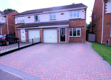 Thumbnail 3 bed semi-detached house for sale in Duxford Grove, Faverdale, Darlington
