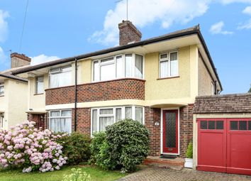 Thumbnail 3 bed semi-detached house for sale in River Way, Ewell, Epsom