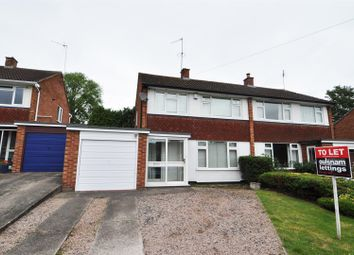 Thumbnail 3 bed semi-detached house to rent in Hopgardens Avenue, Bromsgrove