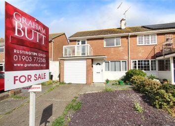 Thumbnail 3 bed semi-detached house for sale in Broadmark Lane, Rustington, Littlehampton
