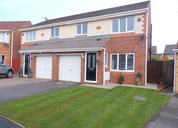 Thumbnail 3 bed semi-detached house for sale in Dunstanburgh Court, Woodstone Village, Houghton Le Spring
