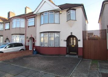 Thumbnail 3 bed semi-detached house to rent in Conway Crescent, Chadwell Heath, Romford