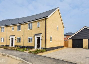 Thumbnail 3 bed end terrace house for sale in Keats Crescent, Brightlingsea, Colchester