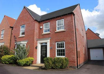 Thumbnail 4 bed detached house for sale in Loddington Close, Syston