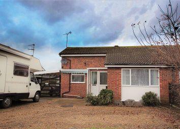 Thumbnail 1 bedroom semi-detached bungalow for sale in Pocahontas Way, Heacham, Kings Lynn, Norfolk.