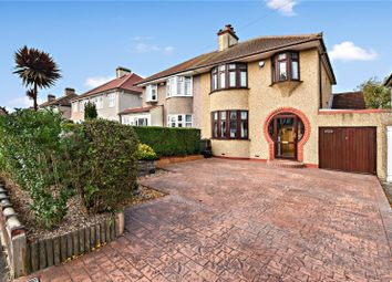 Thumbnail 3 bed semi-detached house for sale in Hythe Avenue, Bexleyheath, Kent